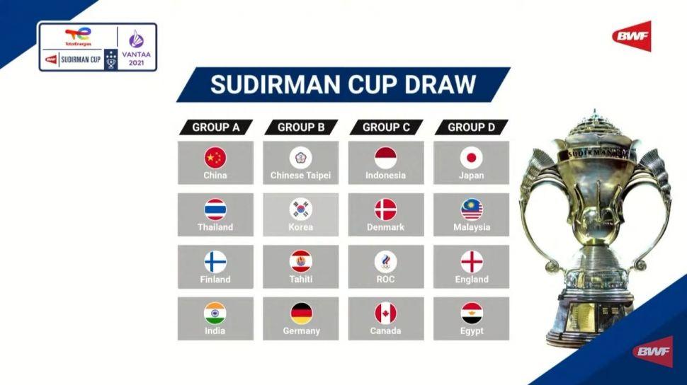 Jadwal Piala Sudirman Cup 2021 di TVRI